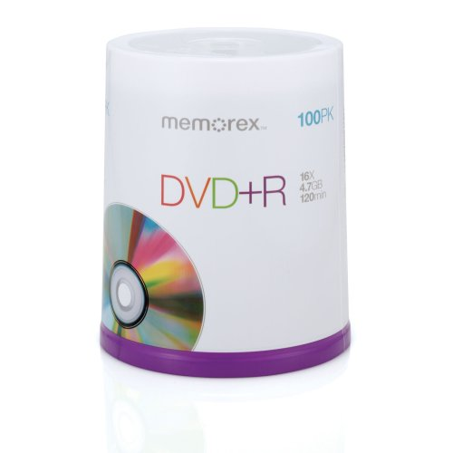 Memorex DVD plus R 16x 4.7GB 100 Pack Spindle