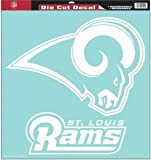 St. Louis Rams Decal - 18''x18'' Die Cut
