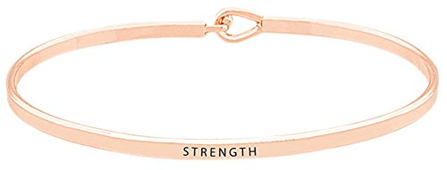 Inspirational Bracelet ''Strength'' Positive Quote Message...