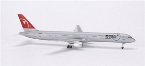 Herpa Wings Herpa Northwest B757-300 (2004 Scheme, Scale 1/400 (Plane B757)