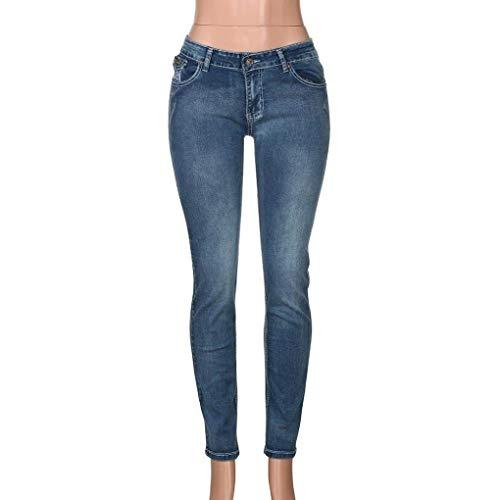 Transpirables Hombre Hellblau Lápiz De Mujeres Pantalones Rectos Dchen Elásticos Mujer Vaqueros Mezclilla Delgados Ocio Largos Casuales Moda Para qTt86xw6Z