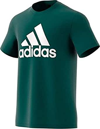 adidas Men's CZ7513 Essentials Linear T-Shirt, Noble Green/White, M