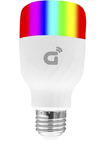 Wi-Fi Smart LED Light Bulb(RGB), Warm & Cool White, No Hub Required, Phone/Tablet Control. Work with Echo Alexa- Google Home- IFTTT(E27) by Gosvn