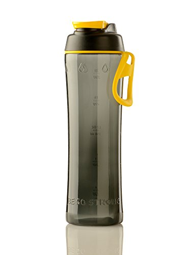 50 Strong 24 oz. BPA Free Tritan Water Bottle with Ice Guard Chug Cap - Made in USA ()