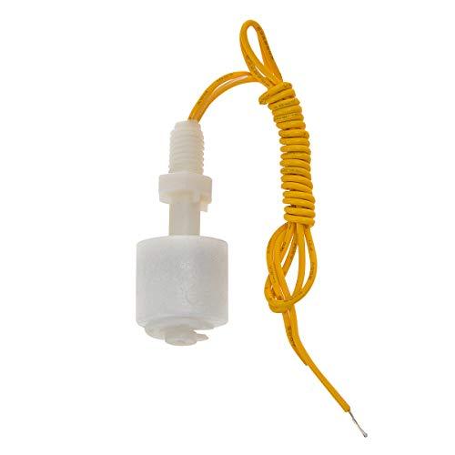 YXQ Liquid Water Level Float Switch Sensor Monitor Vertical Fish Tank PP Plastic,10W 0.5Amp, M8x1.25mm