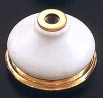 Porcelain Escutcheon w/ Brass Ring - Lacq. Brass - (Porcelain Escutcheon)
