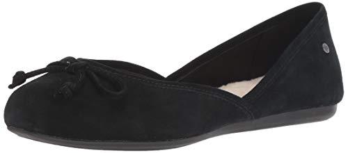 UGG Women's Lena Ballet Flat Black 8.5 M US ()