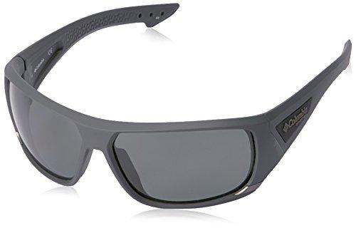 Columbia Men's Arbor Peak Polarized Wrap Sunglasses, Matte Shark, 66 - Peak Sunglasses