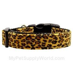Dog Supplies Animal Print Nylon Collars Leopard Medium, My Pet Supplies