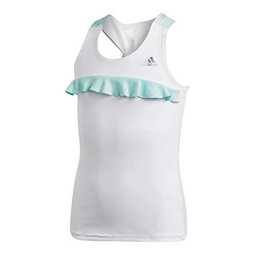 adidas Kids Girl's Ribbon Tank Top (Little Kids/Big Kids) White X-Large