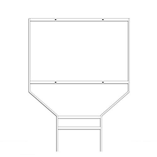 5 Pack White Wishbone Real Estate Frames | Steel Banjo Style Sign Frames | Powder Coated Esquire Frames | 18