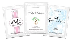 Personalized Cocktail Mixes Favors - Set of 24 (Cosmopolitan, Quinceanera)