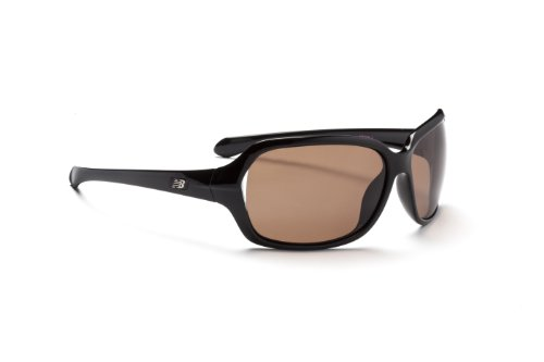 New Balance Sun NB 606-5 Sunglasses, Shiny Black with Pink Ribbon, Brown with Silver Flash - Ribbon New Balance Pink