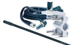 TRUCKSPEC 3' Platinum Series Single Mirror Mount CB Antenna Kit - 1000 Watts Black TSPS-13KB