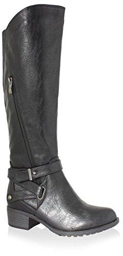 Intaglia Women's Westport Extra Wide Calf Boot - Black - ...
