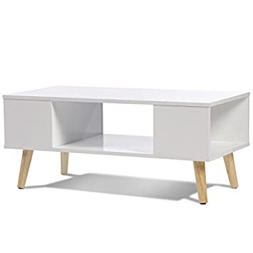 idmarket table basse effie scandinave bois blanc