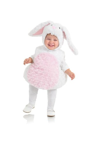 Underwraps Baby's Rabbit Belly-Babies, White/Pink, Large