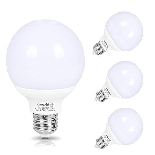 LED Vanity Light Globe Bulb, Aooshine 70W Incandescent G25 LED Bulb Equivalent, Soft Warm White 2700K 7 Watts, Makeup Mirror Lights Bulb E26 Base, Non-dimmable(Pack of ()