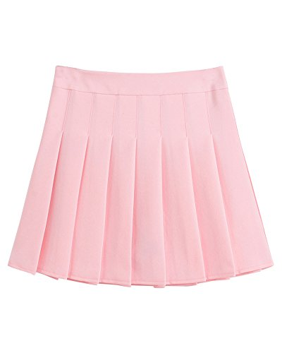 Vita Pink Donna Plissettata Pieghe Alta Gonna Mini Da Versatile qY6waqp