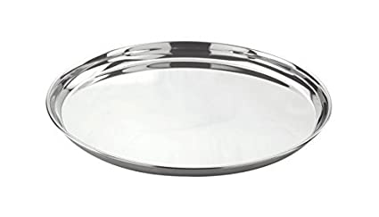 Jagani Stainless Steel Round Dinner Plates Thali Regular Dishes Set of 2 pc - 31 cm  sc 1 st  Amazon.in & Buy Jagani Stainless Steel Round Dinner Plates Thali Regular Dishes ...
