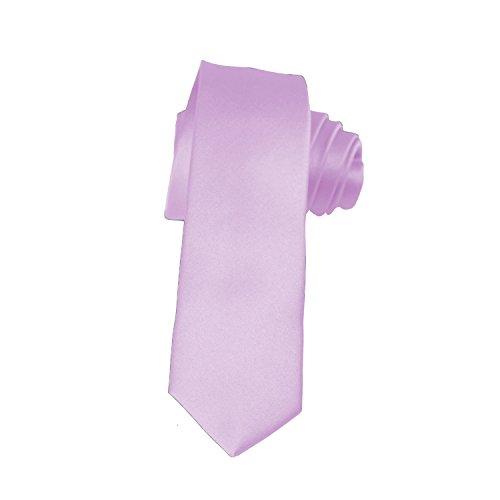- Skinny Lavender Tie 2 Inch Solid Mens Tie Satin by K. Alexander
