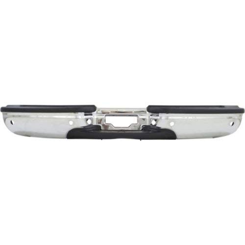 Step Bumper Compatible with FORD EXCURSION 2000-2005 ASSEMBLY Chrome Steel with Rear Object Sensor Hole