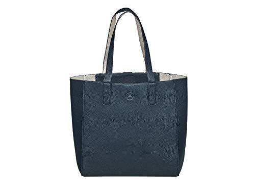 M .... b Mb Shopper Mercedes-benz d'origine, similicuir, argent bleu