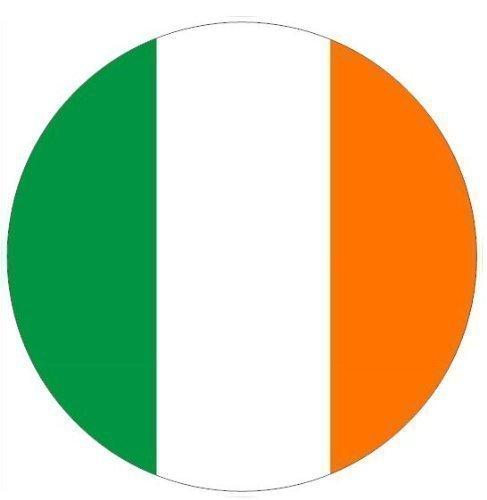 Irish Flag Round 7.5″ Sugar Icing Cake Topper