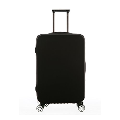 Carry On Baggage (Fvstar Black Luggage Cover Spandex Suitcase Protective Bag with Zipper Enclosuresure (M(22 --- 24 inch Luggage), Black))