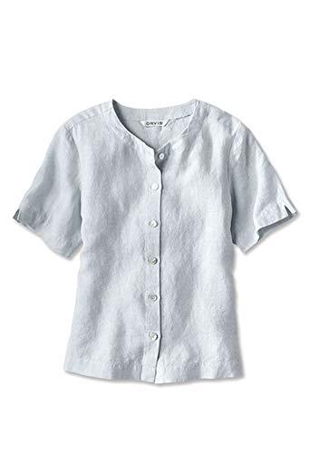 (Orvis Women's Lightweight Linen Sweetwater Tee, Blue Wash, X Large)