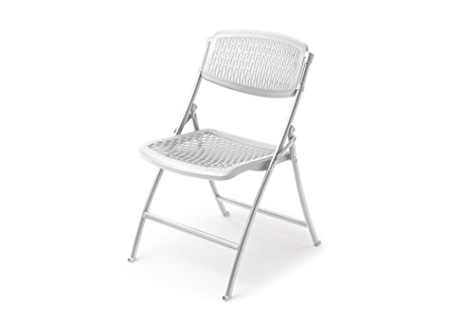 Mity-Lite Flex One Folding Chair, White, 4-Pack (10 Chairs Folding)