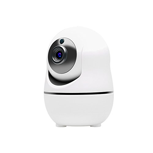 Compatible Alarm - Ouvis VZ1 1080 HD Pan/Tilt/Zoom Wireless WiFi Security Camera, Smart Home IP Camera, Video Surveillance System with Motion Detection, Siren Alarm, Two-way Audio, Night Vision, and APP for Android/iPhone/iPad/Tablet, White