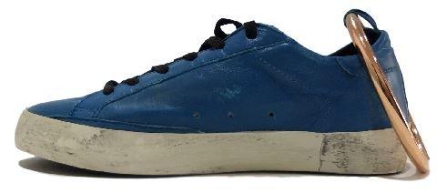 GOLDEN GOOSE Zapatillas de Piel Para Mujer Azul y Negro