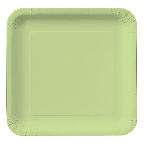 Creative Converting Touch of Color 18 Count Square Paper Lunch Plates, Pistachio ()