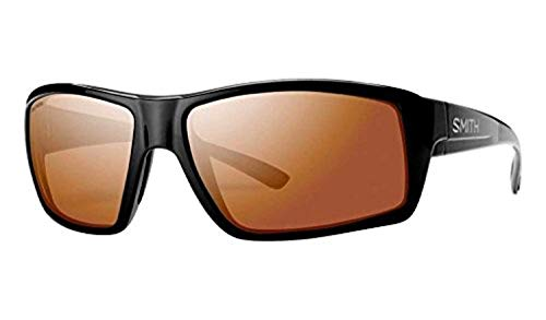 (Smith Optics Challis Sunglasses, Black Frame, Polarchromic Copper Mirror Techlite Glass Lenses)