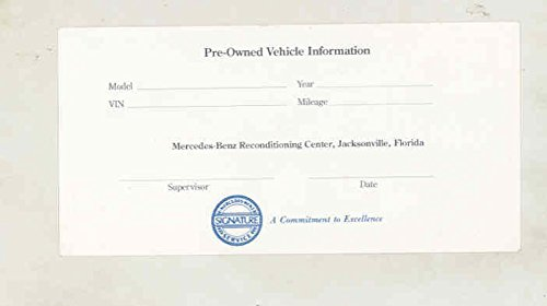 1983 1984 1985 ? Mercedes Benz Signature Service Pre-Owned Car Sales (Pre Owned Mercedes)
