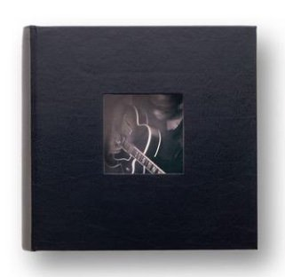 HUDSON 2-up black leather album by Kolo - 4x6