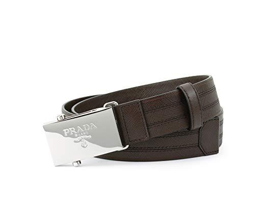 Prada Saffiano 1 Belt, Caffe (Brown) 2CM009 (36-38 US / 95 EU) (Prada Brown Belt)