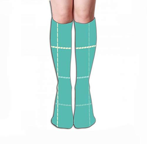 Xunulyn Women Sport High Stockings Novelty Crew Socks 19.7