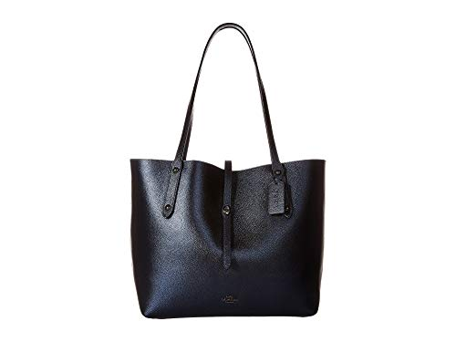 COACH Women's Metallic Leather Market Tote Gunmetal/Metallic Blue One Size