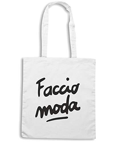 Shopper MODA TDM00070 Bianca Borsa FACCIO vqYq1