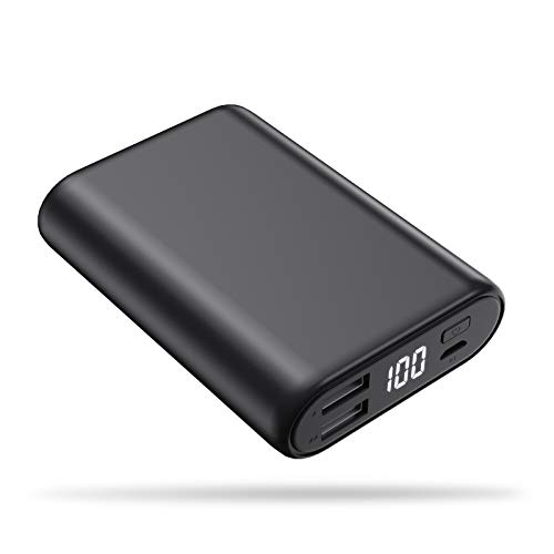(Portable Charger Power Bank 16800mAh, Feob High-Speed Charging Battery Pack with LCD Digital Display, Ultra-Small Mini Portable Phone Charger for Smart Phone, Android Phone, Tablet and More - Black)