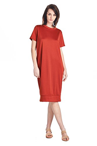 1 Long 82 Comfortable Days Women's Dresses Various Jersey Rust Mid Styles 0ZOZTqxwv