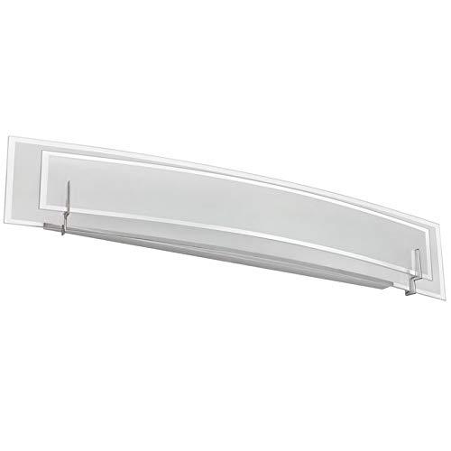 Dainolite Lighting V034-4W-SC Vanity with Frosted Glass Shades, Satin Chrome Finish