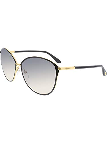 (Tom Ford Tf 320 Penelope Black/Gold Frame/Gray Gradient Lens 59Mm)