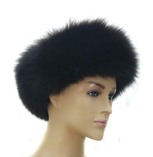 - Fox Fur Headband Black