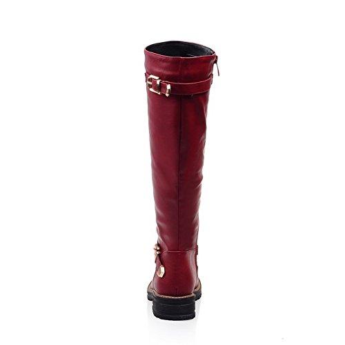 1TO9Mns02147 - Sandali con Zeppa donna, Rosso (Red), 35 EU