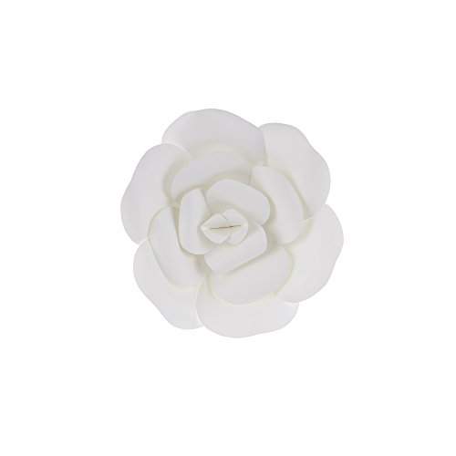 "Mega Crafts 8"" Handmade Paper Flower in White 