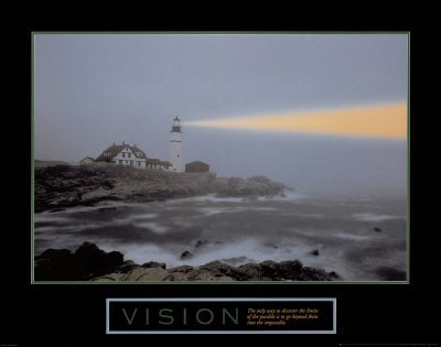 Vision Lighthouse Motivational Poster Inspirational Art Print