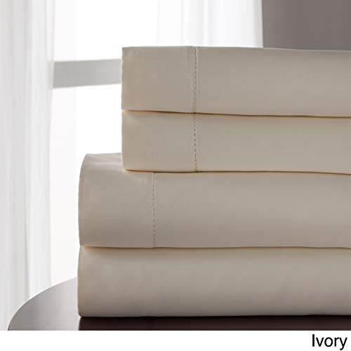 Elite Home Products Tencel Blend 800 Thread Count Sheet Set Ivory Full